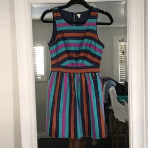 Dresses & Skirts - Multicolor striped dress. Short with keyhole